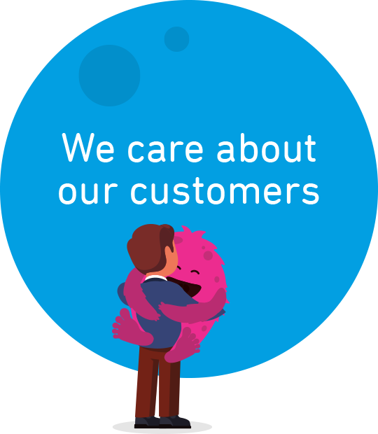 We care about our customers